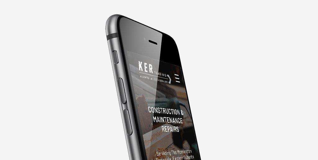 KER Trading logo and website design